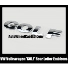 VW Volkswagen 'GOLF' Chrome Silver Emblems Letters Rear Trunk Badges Stickers