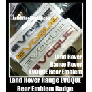 Land Rover Range EVOQUE Black White Red Yellow Rear Trunk Emblems Badges Stickers Sport Supercharged LR2 LR3 LR4 Discovery