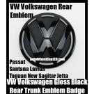 VW Volkswagen Gloss Black Rear Trunk Boot Emblem Badge Tiguan Passat Santana Lavida New Sagitar Jetta