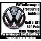 VW Volkswagen Gloss Red Black Front Grille Emblem Badge Golf 6 MK6 GTI GTIs R20 New Polo Jetta Magotan Bonnet Hood