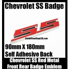 Chevrolet Chevy SS Red Hot Badge Emblem Front Trunk Rear Site Metal Alloy Sticker