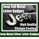 Jeep Chrome Silver Metal Hood Truck Emblem Badge Front Rear Wrangler Grand Cherokee Stickers