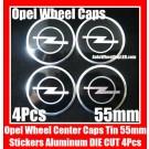 Opel Wheel Center Caps Tin Roundels Stickers Aluminum DIE CUT 55mm Emblems Badges