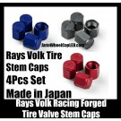 Rays Volk Racing Forged Blue Red Black Aluminum Tire Valve Stem Caps Japan Wheels Rims Work Japan 4Pcs Universal Set