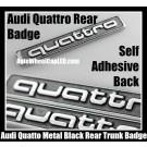 Audi Quattro Rear Trunk Metal Black Chrome Silver Emblem Badge 3.0T 2.0T A3 A4 A5 A6 A7 A8 Q3 Q5 Q7 TT A4L A6L