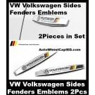 VW VW Volkswagen Sides Fenders Emblems Badges 2Pcs Set Golf 7 6 Scirocco MK6 GTI R20 NEW Polo Sagitar Magotan