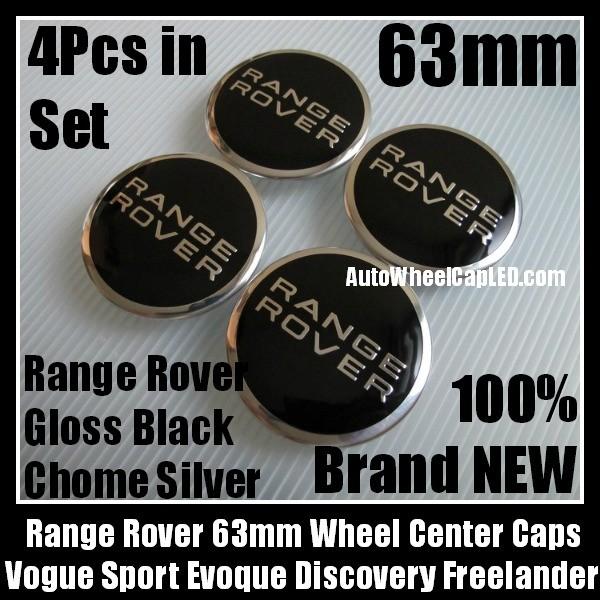 4 CAPS RANGE ROVER Hub covers hood front wheel center caps 4 METAL STICKERS