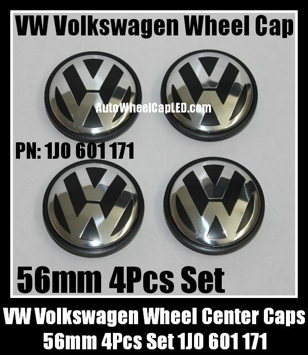 vw volkswagen 56mm wheel center emblems caps 1j0 601 171. Black Bedroom Furniture Sets. Home Design Ideas