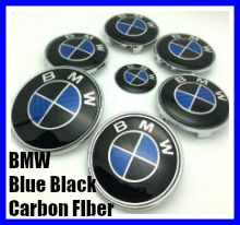 BMW Carbon Fiber Blue Black 7Pcs Full Set
